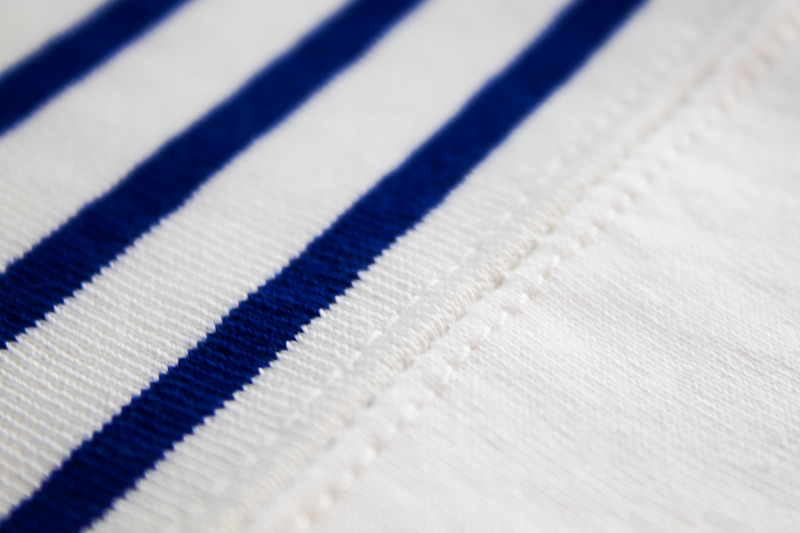 Junya Watanabe MAN L/S Striped T-Shirt [White/Blue]