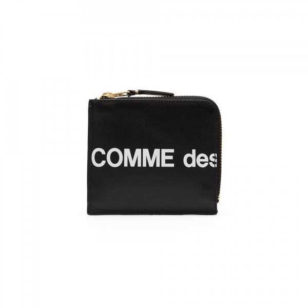 Comme Des Garcons Huge Logo Medium Wallet [Black]