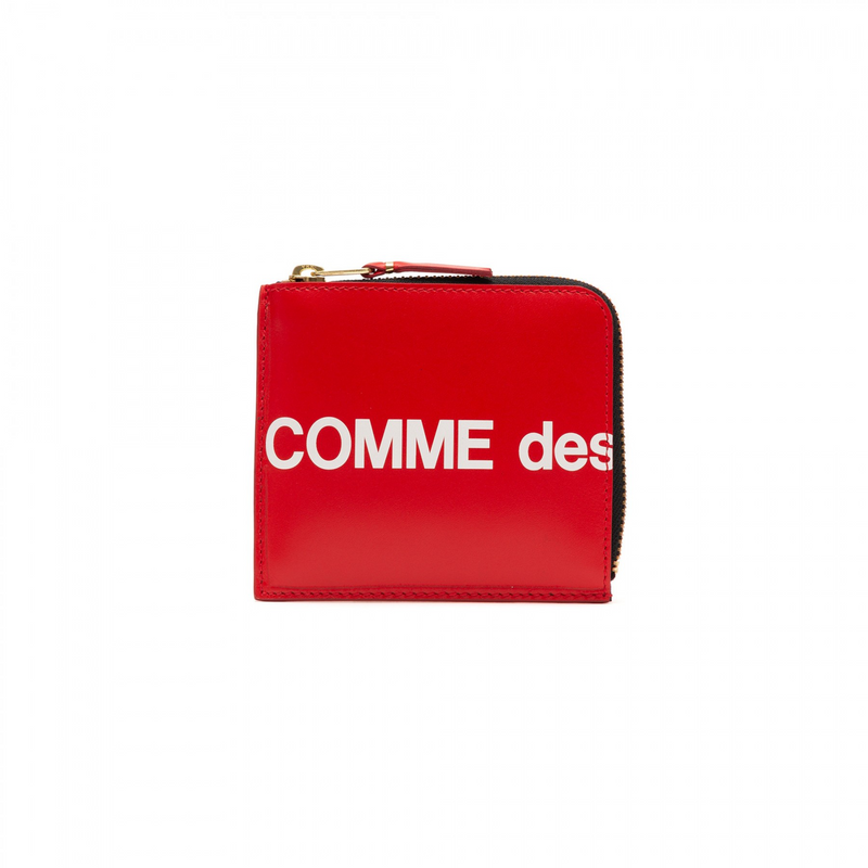 Comme Des Garcons Huge Logo Medium Wallet [Red]