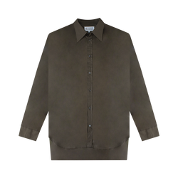 Maison Margiela Fine Poplin Button-Down [Brown]