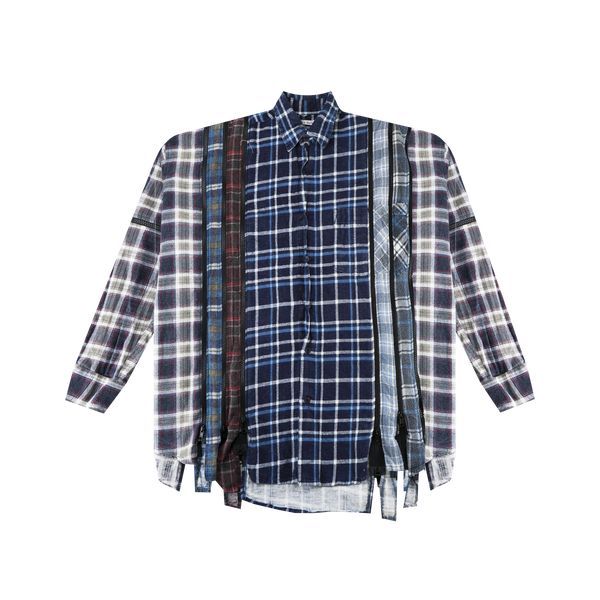 Needles 7 Cut Zip Flannel 'Blue'
