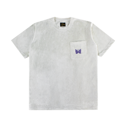 Needles S/S Papillon Pocket Tee [Off White]