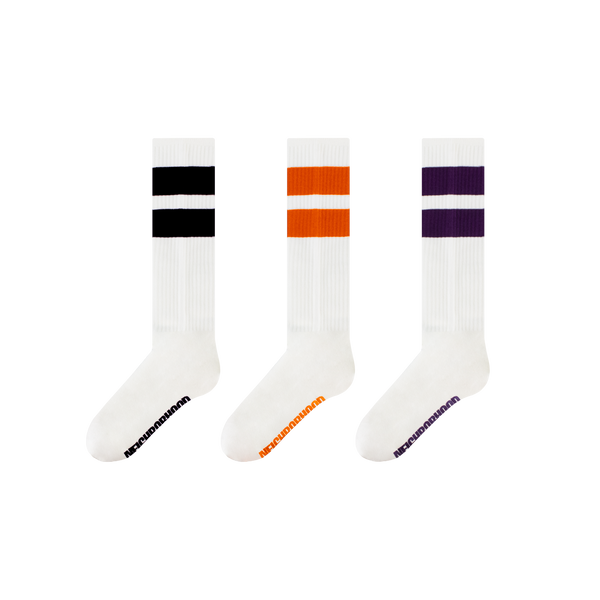 Neighborhood 3 Pack Socks [White]