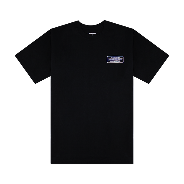 Neighborhood Bar & Shield S/S T-Shirt 'Black'