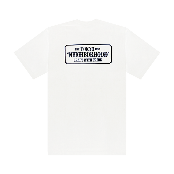 Neighborhood Bar & Shield S/S T-Shirt 'White'