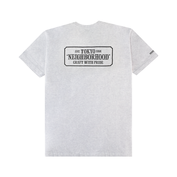 Neighborhood Bar & Shield S/S Tee [Grey]