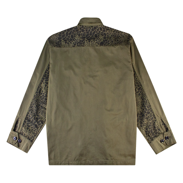 Neighborhood Mil Cargo L/S Shirt 'Olive Drab'