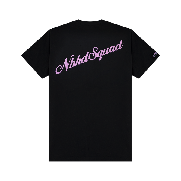 Neighborhood NBHD Squad Tee [Black/Pink]