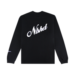 Neighborhood Script Pullover [Black]