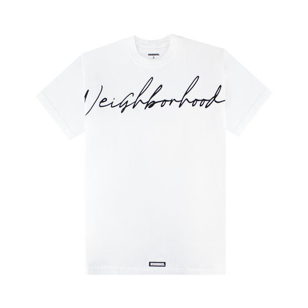 Neighborhood Script S/S T-Shirt 'White'