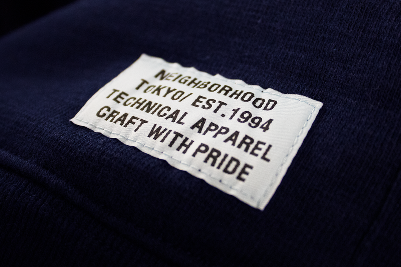 Neighborhood Slub Hooded Sweatshirt [Navy]