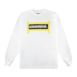 Neighborhood Tape L/S T-Shirt 'White'