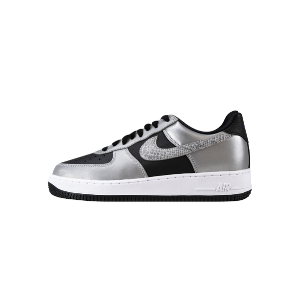 Nike Air Force 1 B - Silver Snake 'Black/Black/Silver'