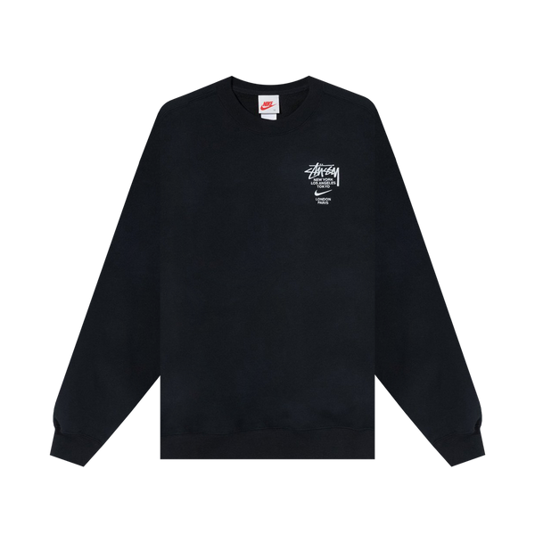 Nike x Stussy Fleece Crew 'Black'