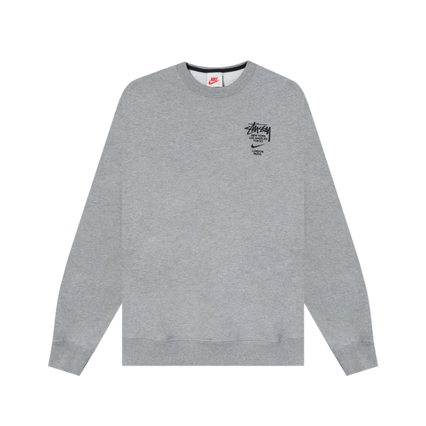 Nike x Stussy Fleece Crew 'Heather Grey'