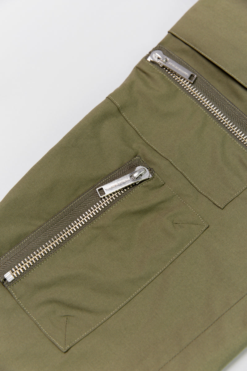Leg zipper detail of Public School New York Galvez Utility Pant ROOTED Nashville