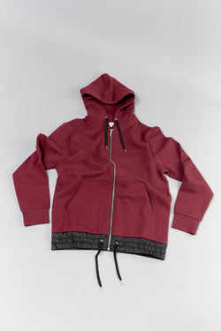 Lay flat image of maroon Public School Langston Zip Hoodie at ROOTED Nashville