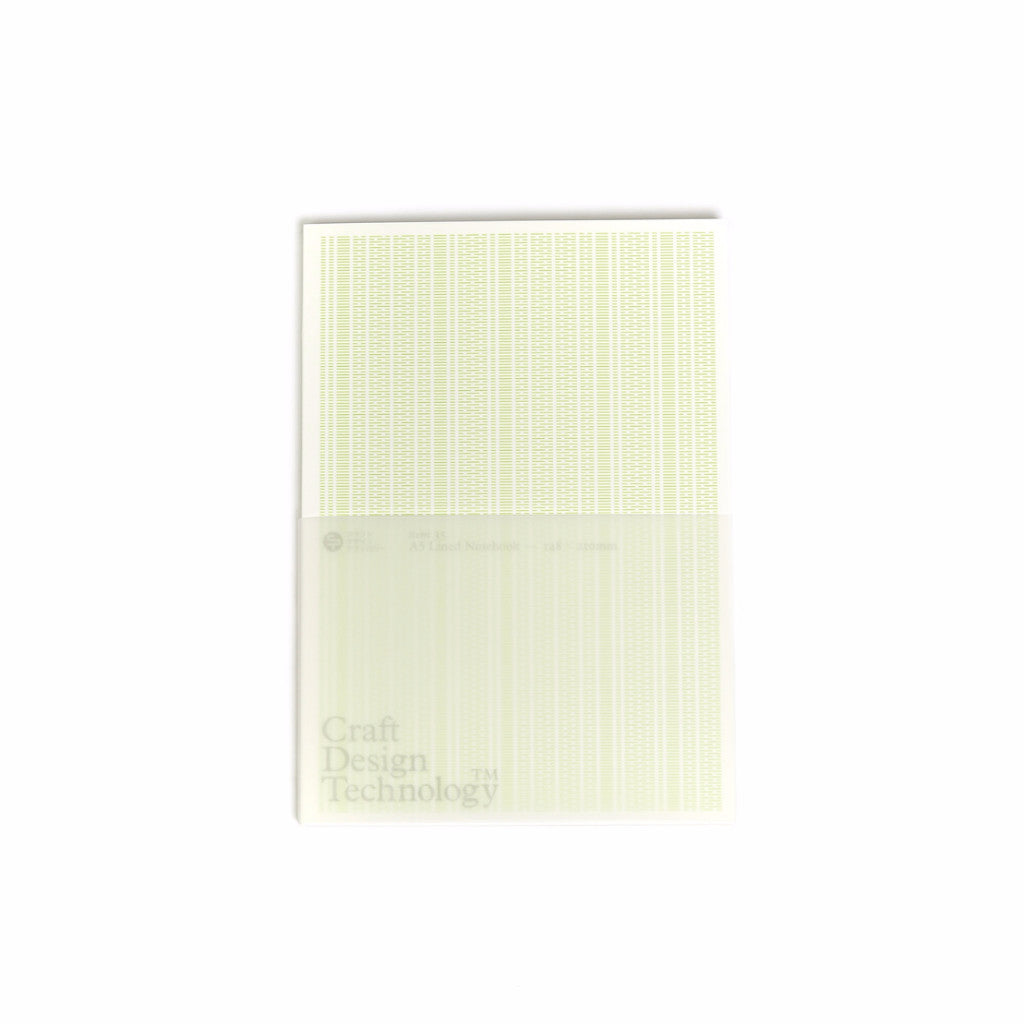 Craft Design Technology Premium pale green lined notebook at ROOTED Nashville