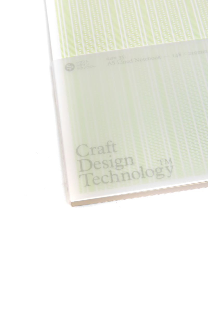 Craft Design Technology A5 Lined Notebook Pale Green Rooted