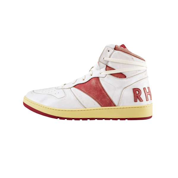 Rhude B-Ball Hi [White/Red]