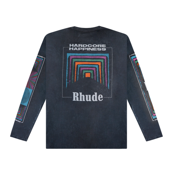 Rhude Box Perspective Graphic L/S T-Shirt 'Black'