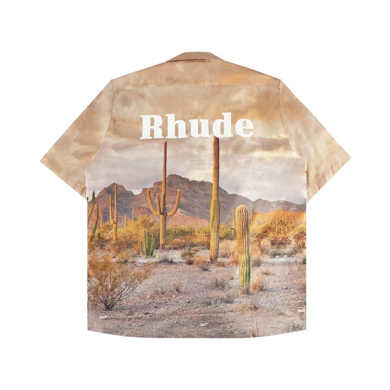 Rhude Cactus Button-Up Shirt [Brown]