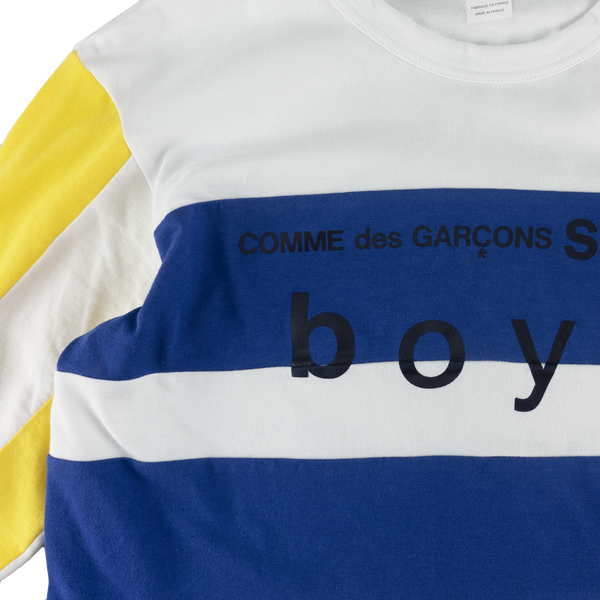 COMME des GARÇONS SHIRT Cotton L/S Shirt [White/Navy/Yellow]