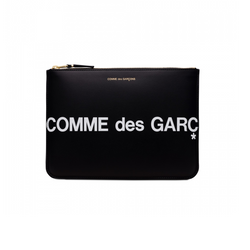 Comme Des Garcons Huge Logo X-Large Wallet [Black]