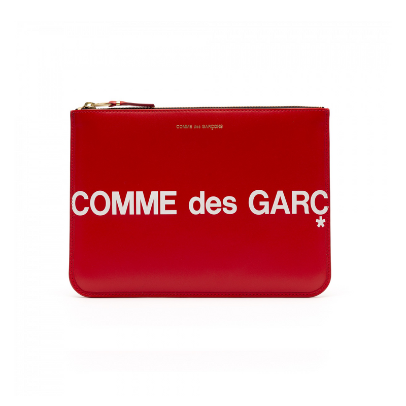 Comme Des Garcons Huge Logo X-Large Wallet [Red]