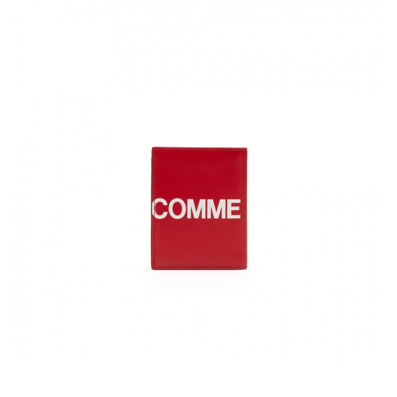 Comme Des Garcons Huge Logo Small Wallet [Red]