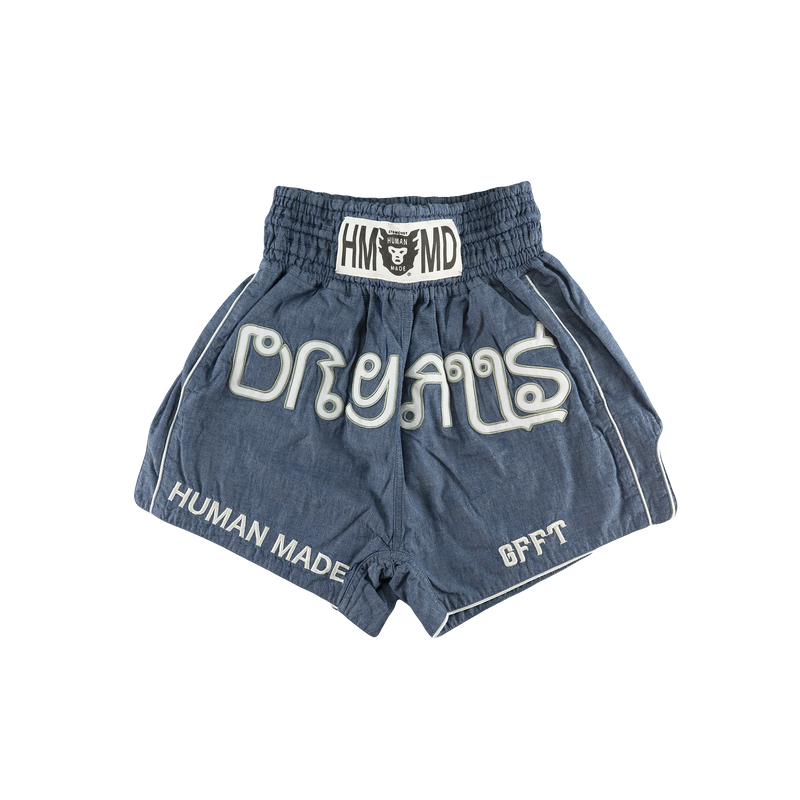 Human Made Chambray Muay Thai Shorts [Blue]