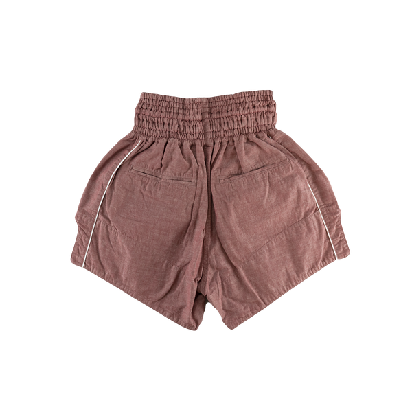Human Made Chambray Muay Thai Shorts [Red]