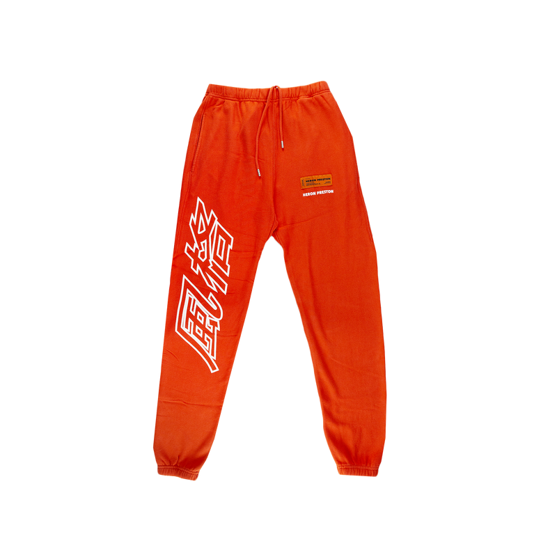 Heron Preston CTNMB Sweatpants in Coral Red  Style: HMCH005S197570552101