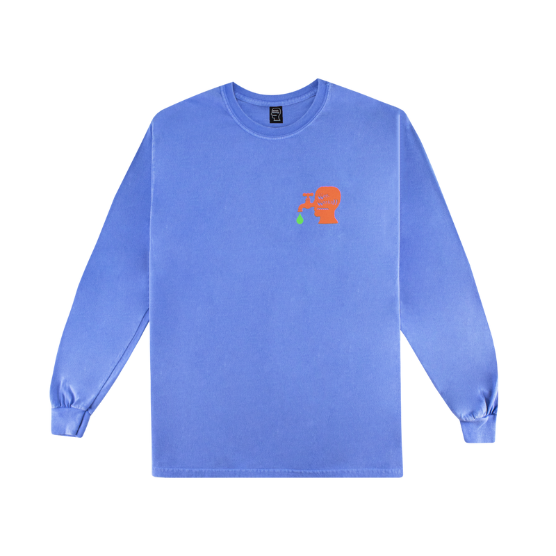 Brain Dead Wet Works L/S T-Shirt [Sky Blue]