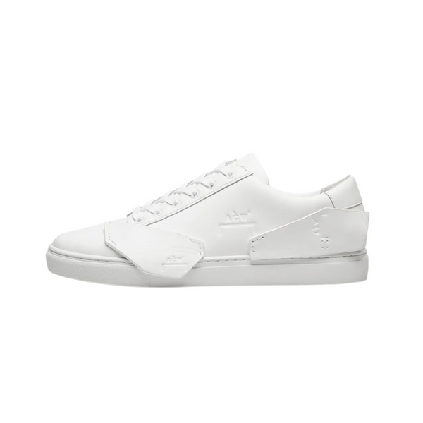 A-COLD-WALL* Multipanel Leather Sneaker in White  Style: CW9STF01  Made in Indonesia  100% Leather