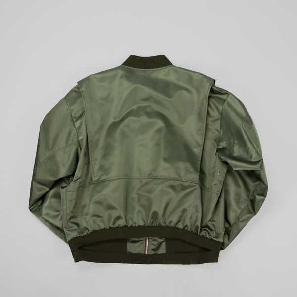 Maison Margiela Cut Out Nylon Bomber [Green/Plain]