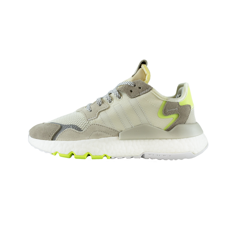 Adidas Nite Jogger Women's in Off-White/Hi-Res Yellow  SKU: CG6098