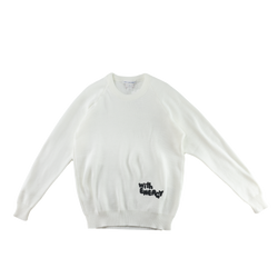 COMME des GARÇONS SHIRT Charles Kirk Sweater in White  Style: S27525 'With Energy'