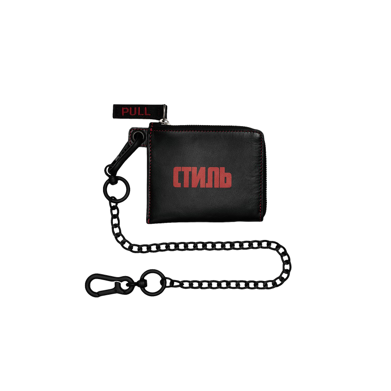 Heron Preston Zip Wallet With Chain [Black]