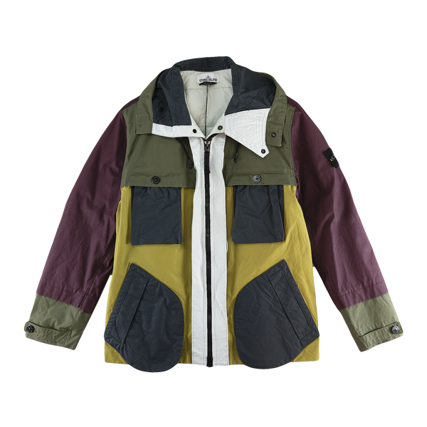 Stone Island Two Tone Plated Canvas Field Jacket [Multi]