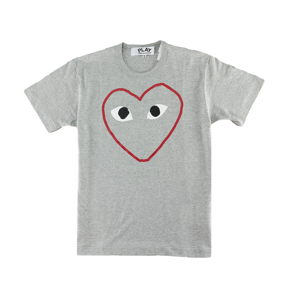 Comme Des Garcons PLAY Sketch Heart T-Shirt [Grey]