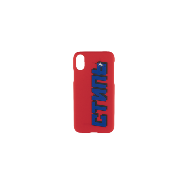 Heron Preston CTNMB iPhone XS Cover [Coral Red]
