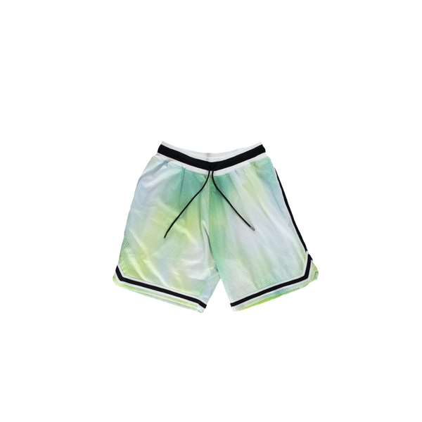 John Elliott Tie Dye Basketball Shorts in Sour Skittles  Style: C029D34112A