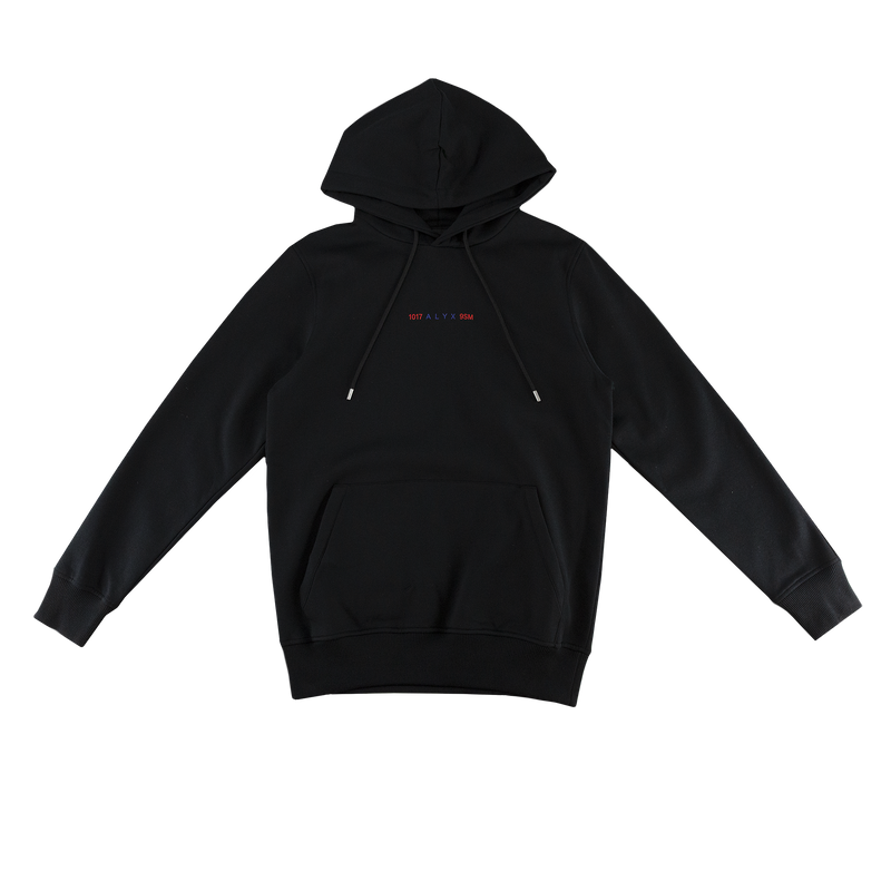1017 ALYX 9SM Logo Collection Hoodie in Black  Style: AVUSW0001A001
