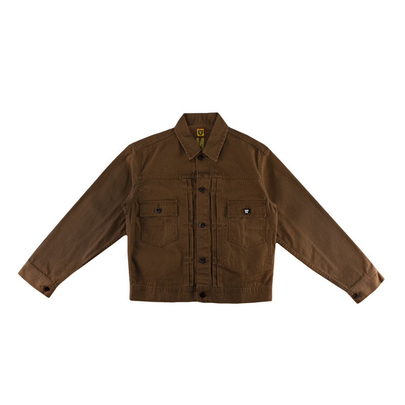 Human Made Work Jacket in Brown  Style: HM17JK010