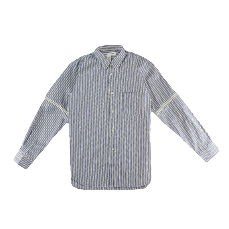 Comme Des Garcons SHIRT Open Elbow Striped Shirt [Blue/White]