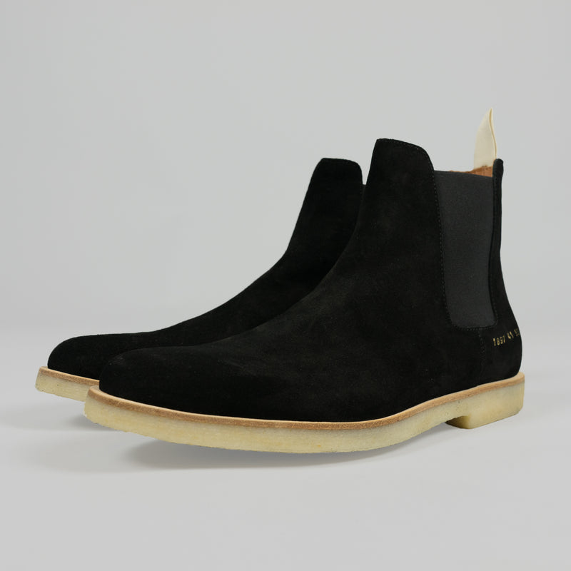 Common Projects Chelsea Boot in Suede Black