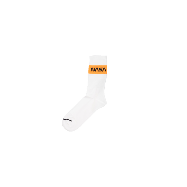 Heron Preston NASA Crew Socks [White/Orange]