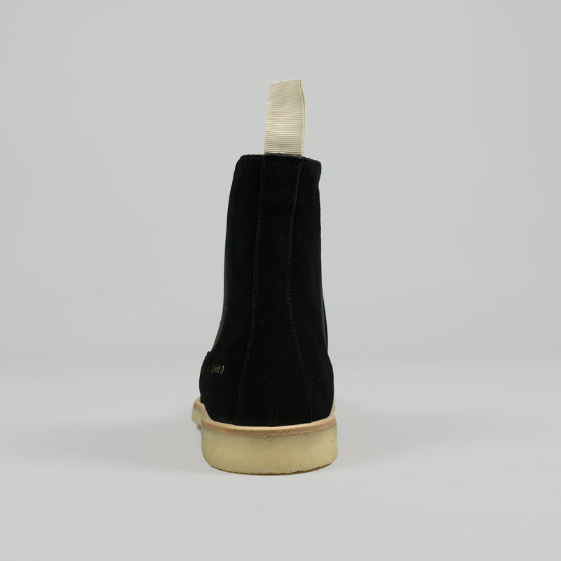 Heel of Common Projects Chelsea Boot in Black