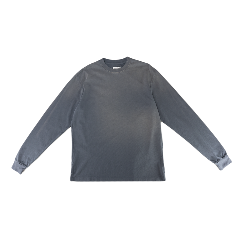 John Elliott Sundrenched University L/S T-Shirt in Navy  Style: A189M1445A